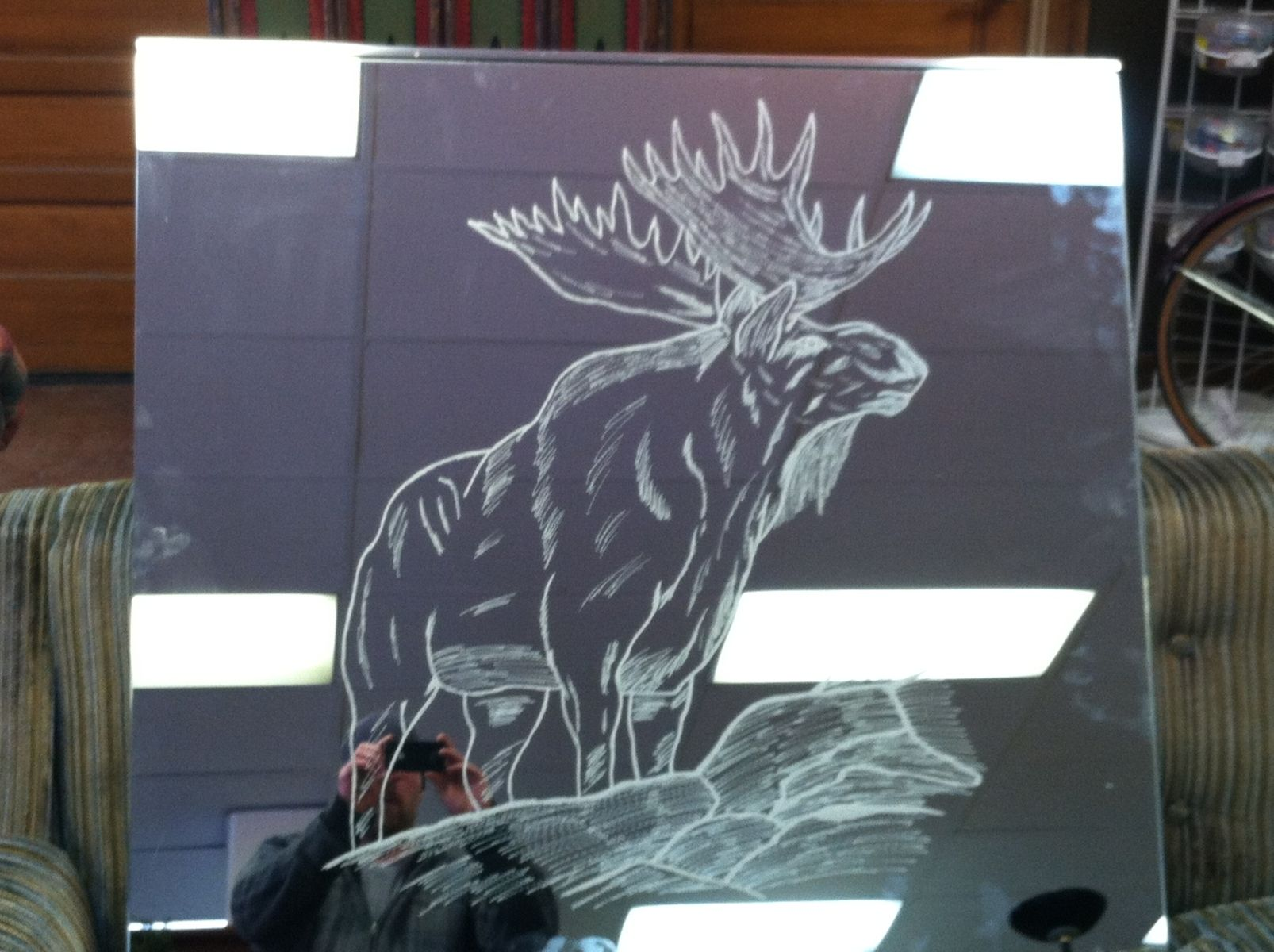 Custom Etched Glass Freehand By Custom Glass Etching