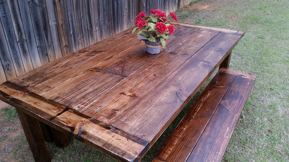 handmade rustic farmhouse dining room table by geoffs custom made dining room table item 129658 second