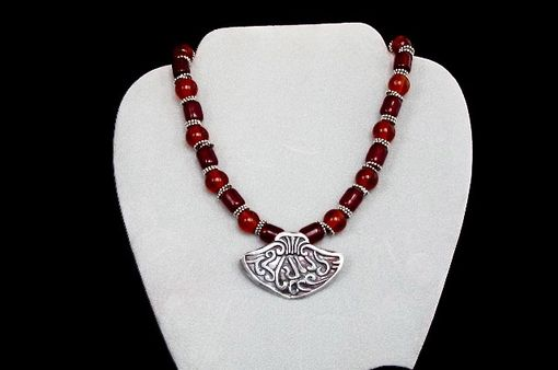Custom Made Beaded Necklace With Fine Silver Pendant