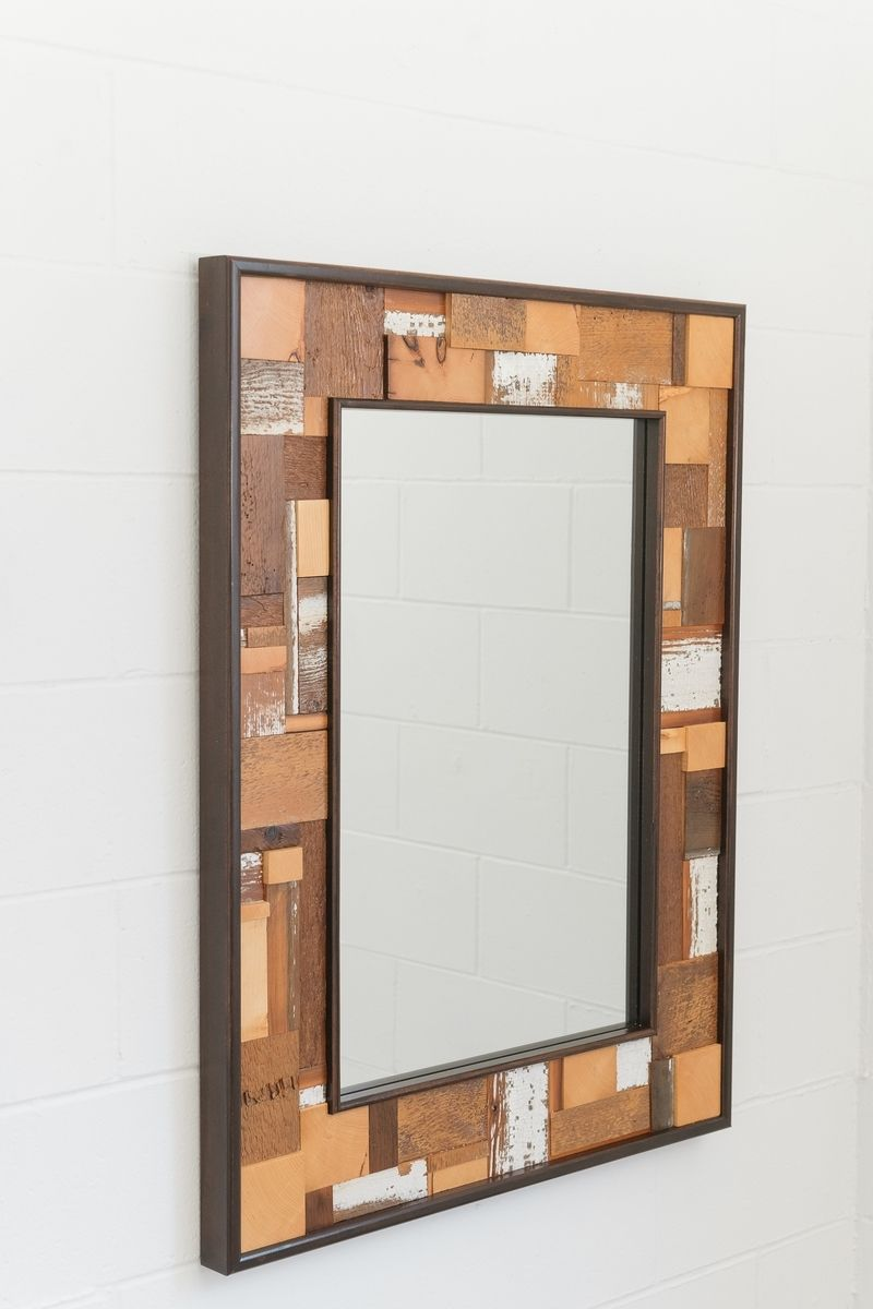 Hand made barnwood mirror by nestcraft for Custom made mirrors