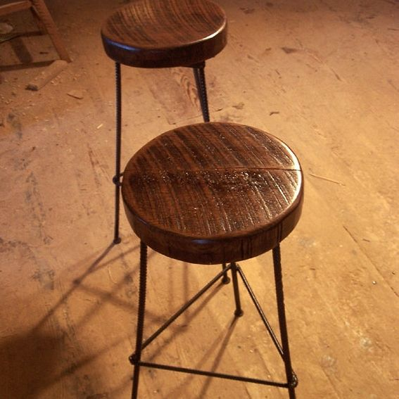Buy Hand Made Reclaimed Wood Bar Stools With Industrial