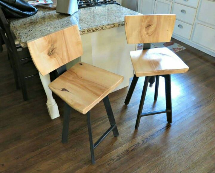 Hand Crafted Bar Stools With Backs By Donald Mee Designs