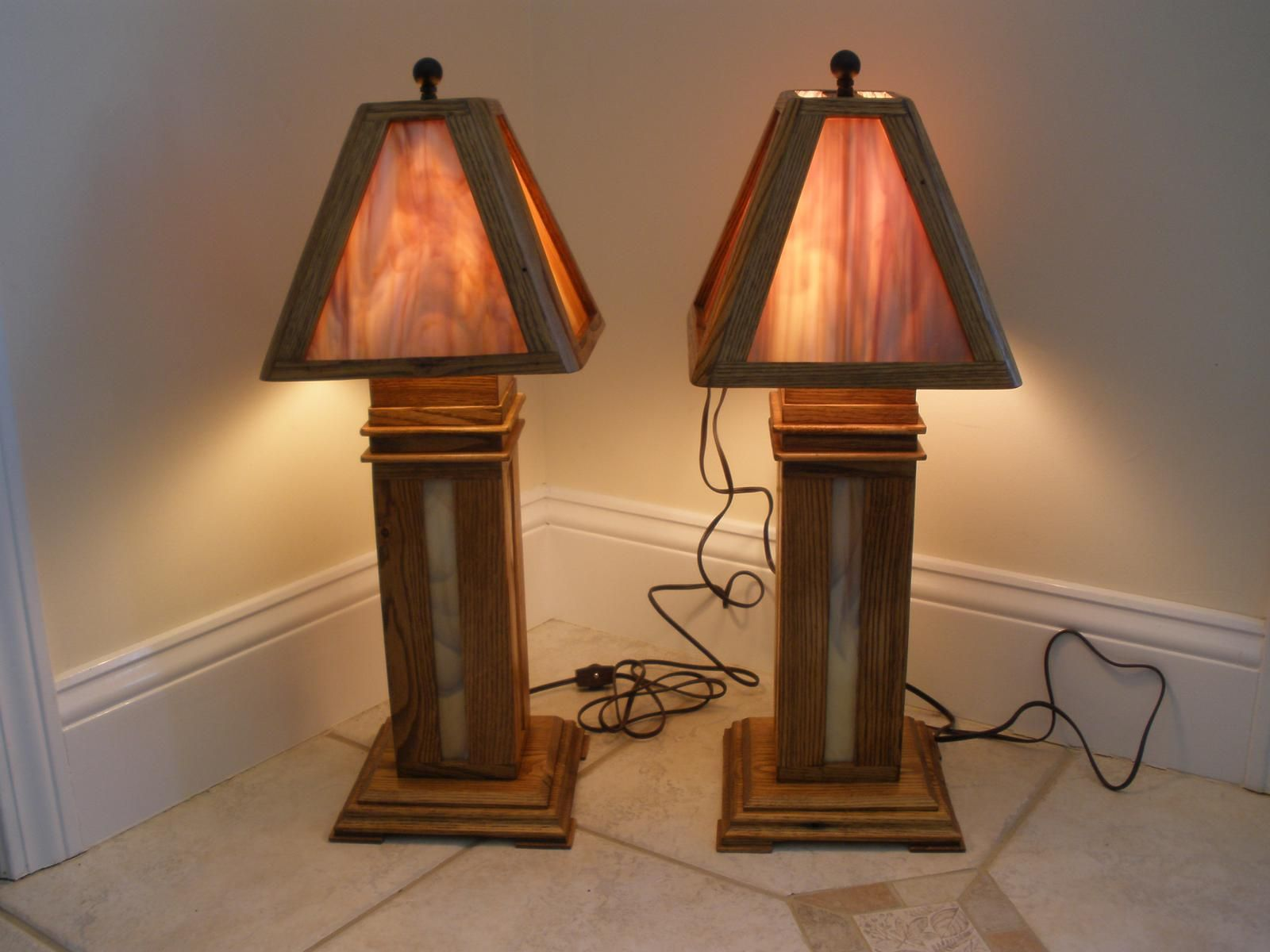 Custom Chestnut Stained Glass Lamps By Fwc Woodworking