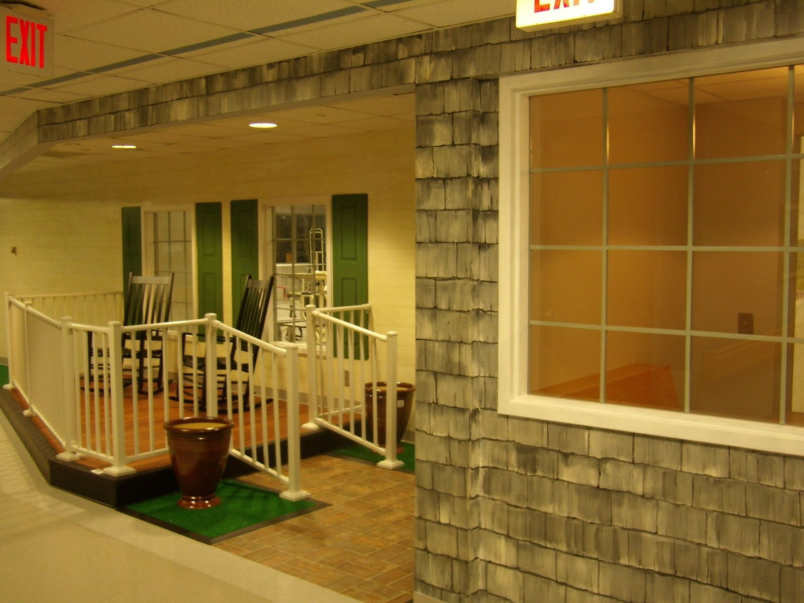 Hand Crafted Hospital Rehab Center Inside Entrance By
