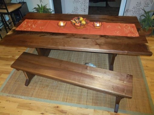 Custom Made Walnut Crotch Dining Room Table