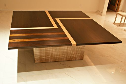 Custom Made Wenge And Tiger Maple Dining Table