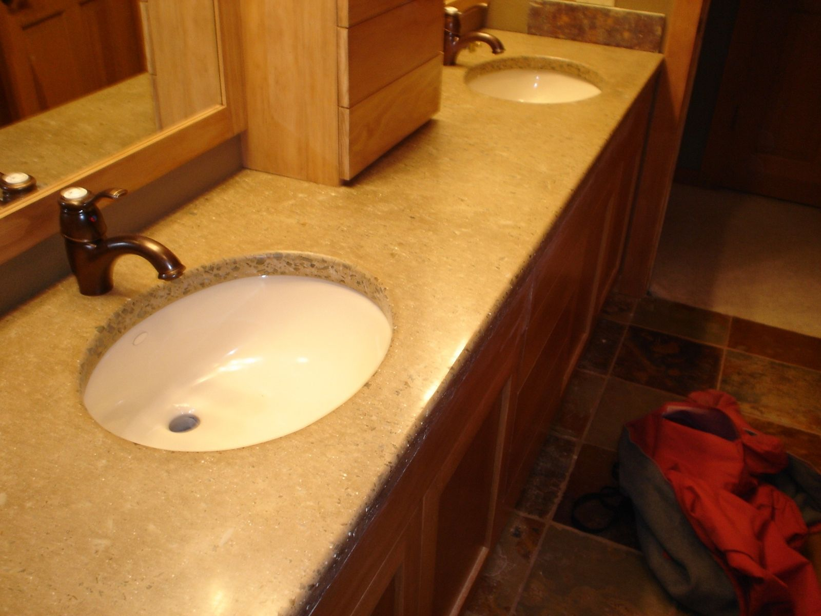 Custom Meyer Double Vanity Sink By Rock And A Hard Place Concrete CustomMad