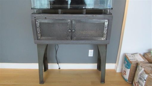 Music Stand Designs : Custom industrial fish tank stand by wild edge designs