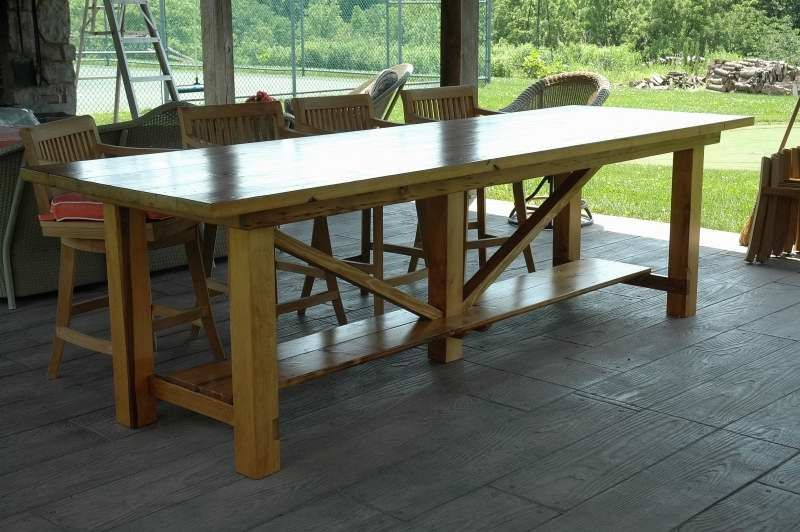 custom large farm table by wooden
