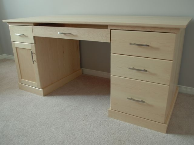 Hand Made Maple Office Desk By Clark Wood Creations