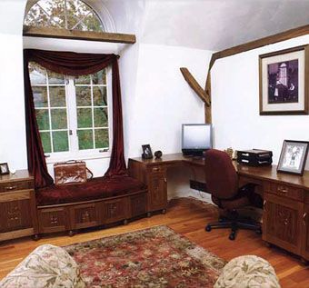 Custom Made Built-In Desk With Window Seat
