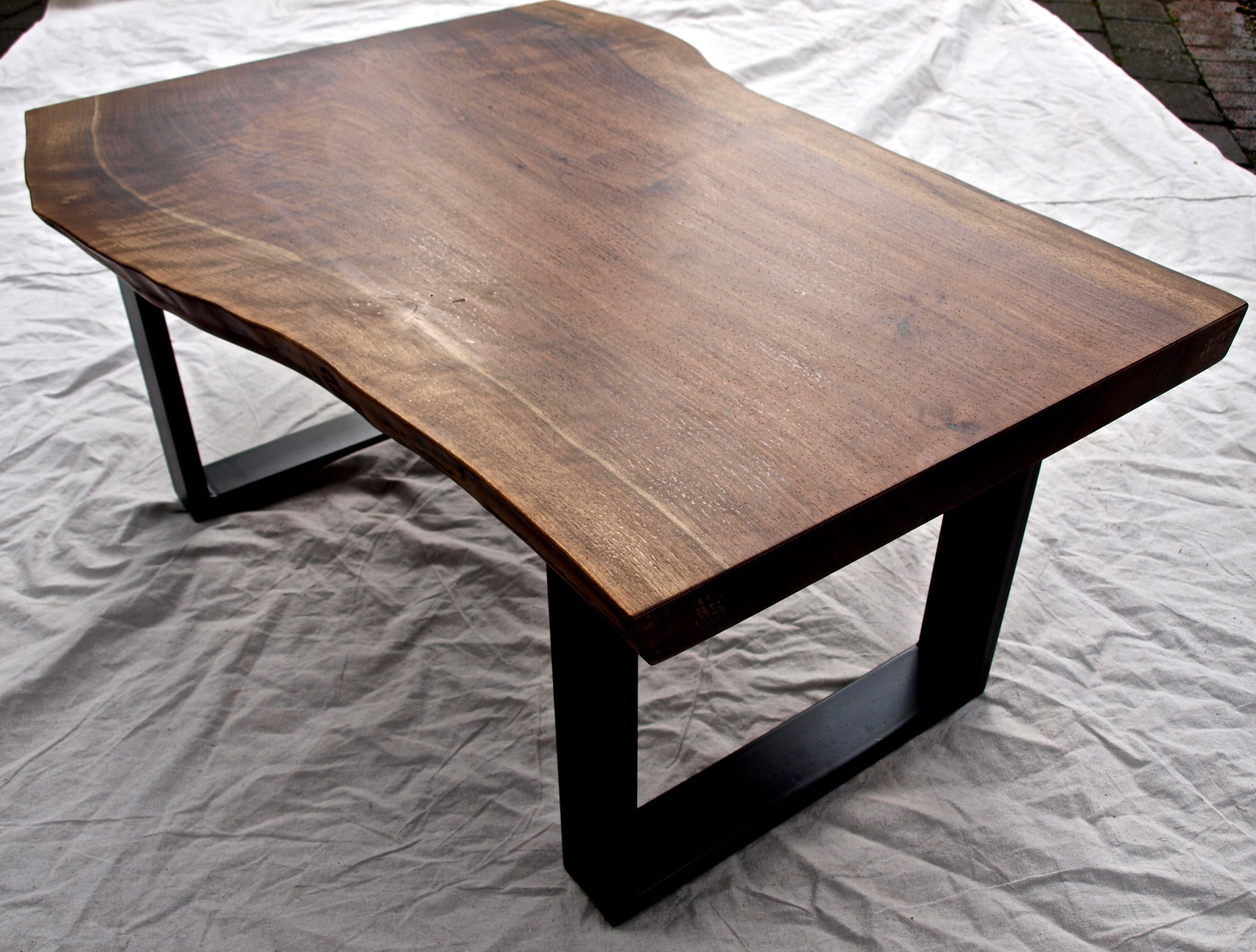 Buy A Hand Crafted Live Edge Walnut Coffee Table Made To