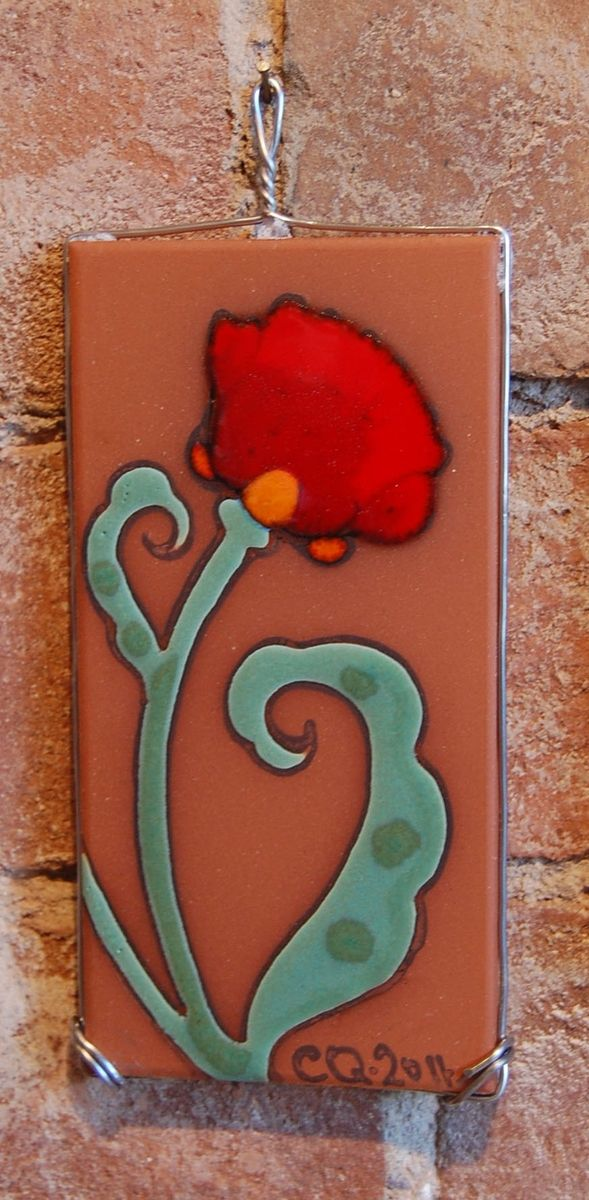 Handmade 3 Quot X6 Quot Wire Wrapped Hand Glazed Decorative Tile By