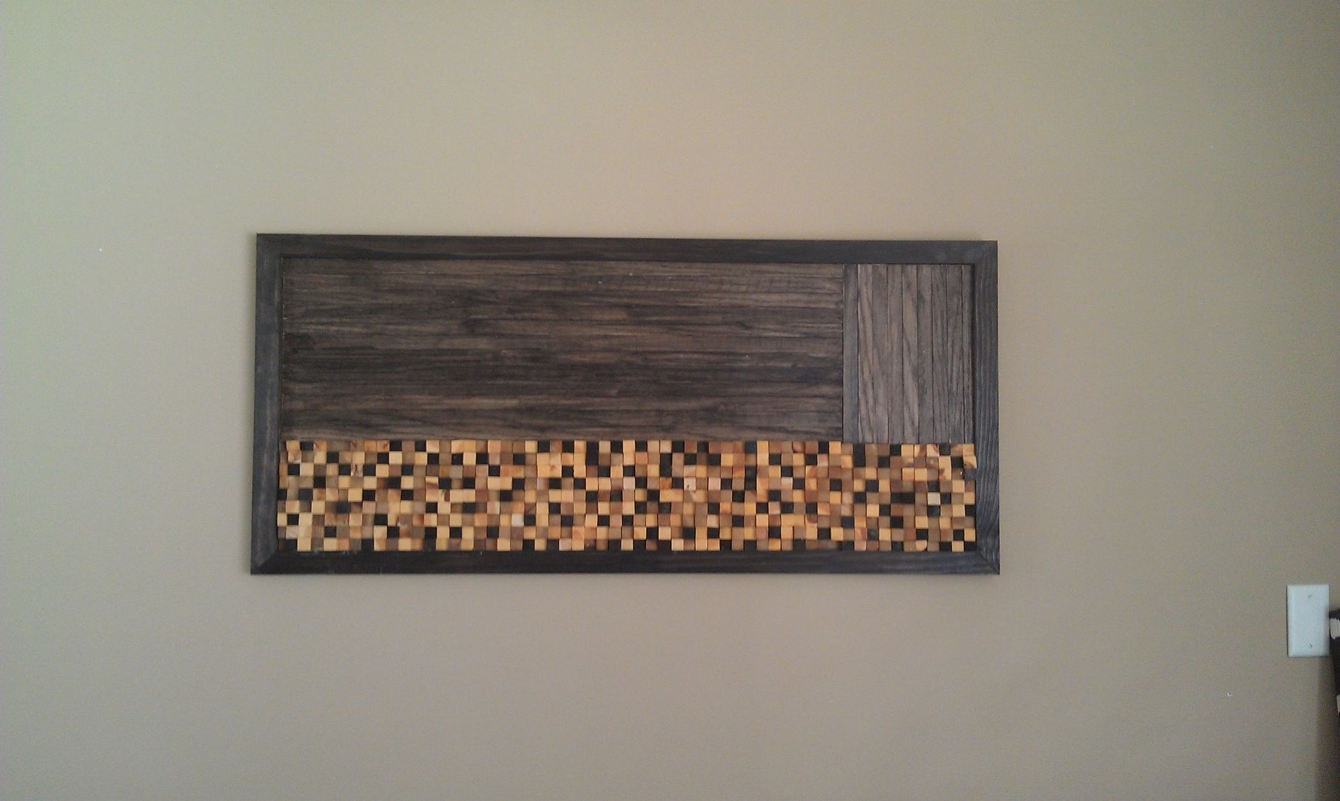 Concrete Wall Art : Handmade wood mosaic wall art by built concrete