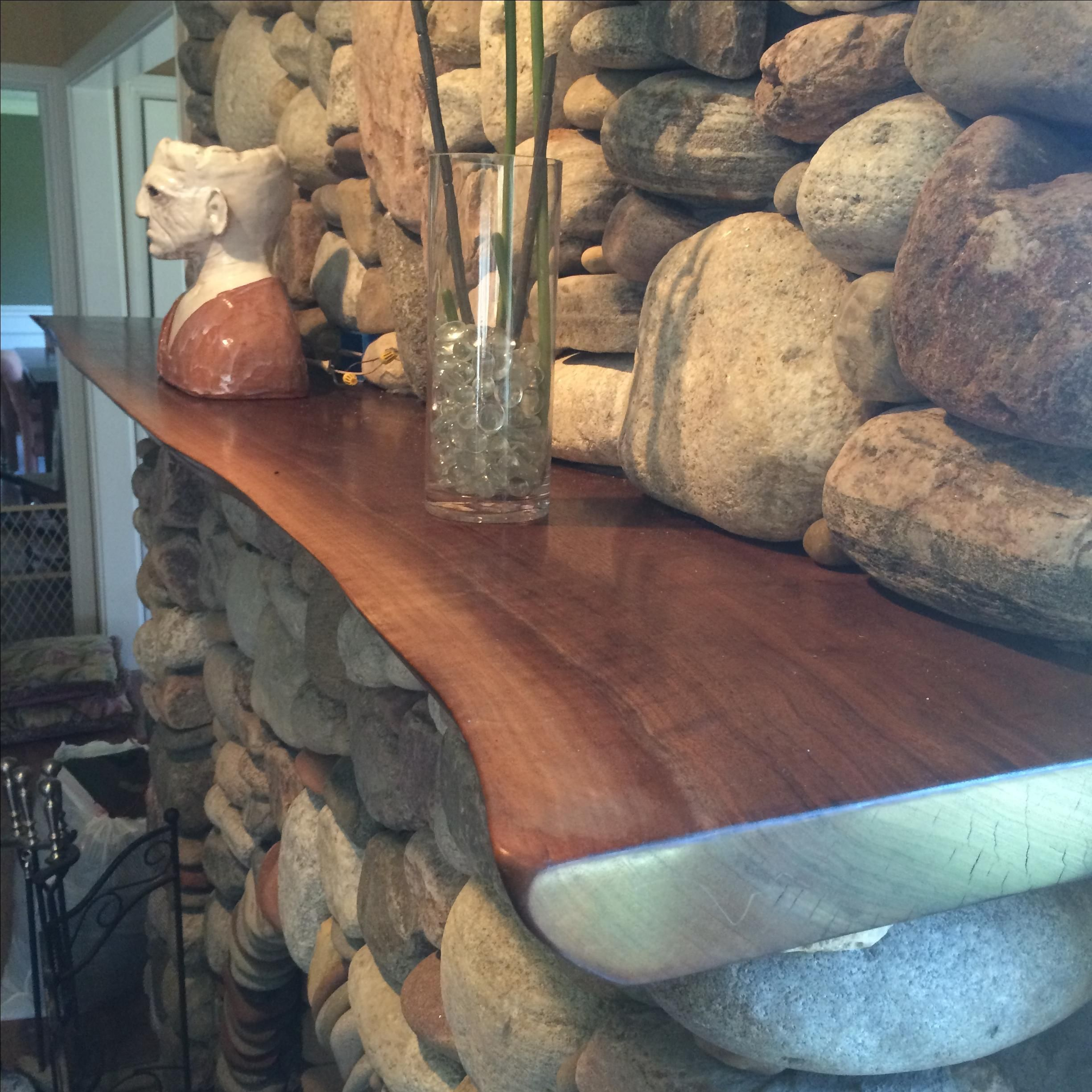 Hand Made Live Edge Walnut Mantle By Powell Woodworks