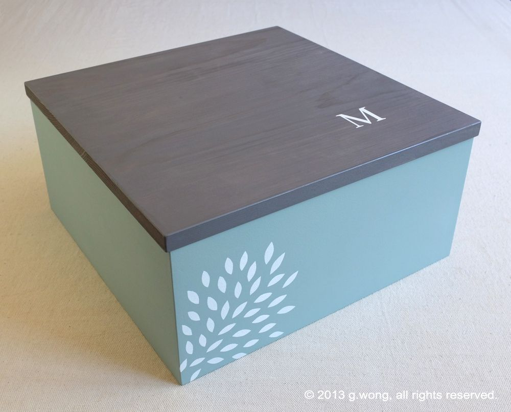 Hand Crafted Custom Wedding Box Personalized Memory Box