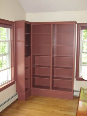 Custom Made Corner Bookcase