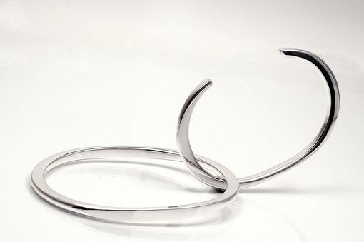 Custom Made Forged Sterling Silver Bracelets