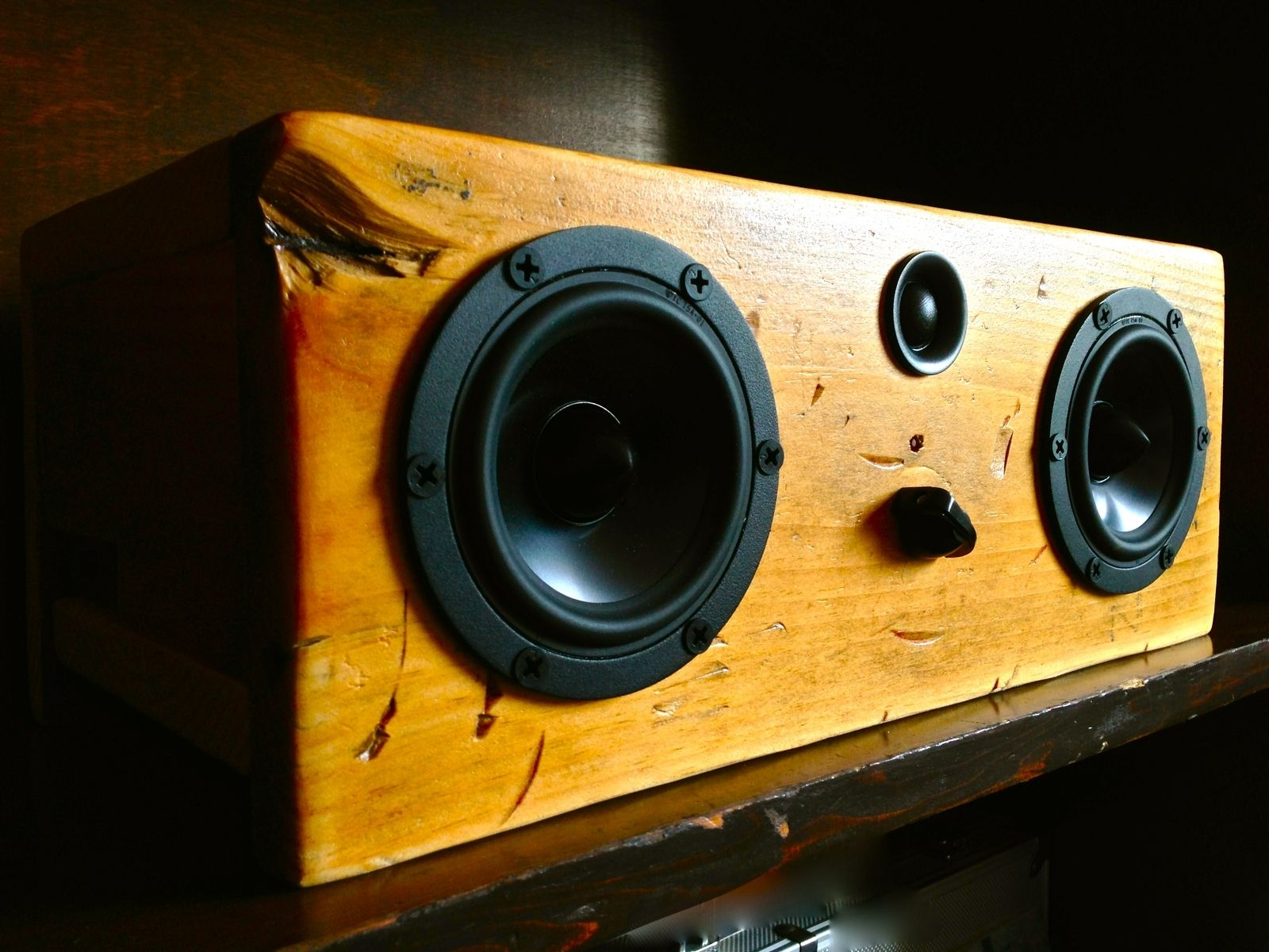 Hand Made Bluetooth Speaker System Big Natural Box By