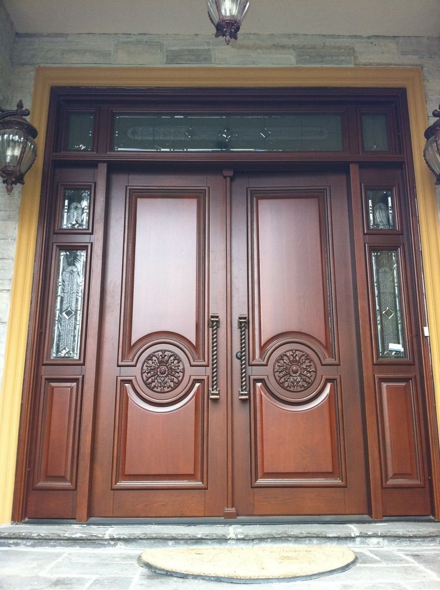 Hand made entry wood doors by casa loma doors art glass for Custom made doors