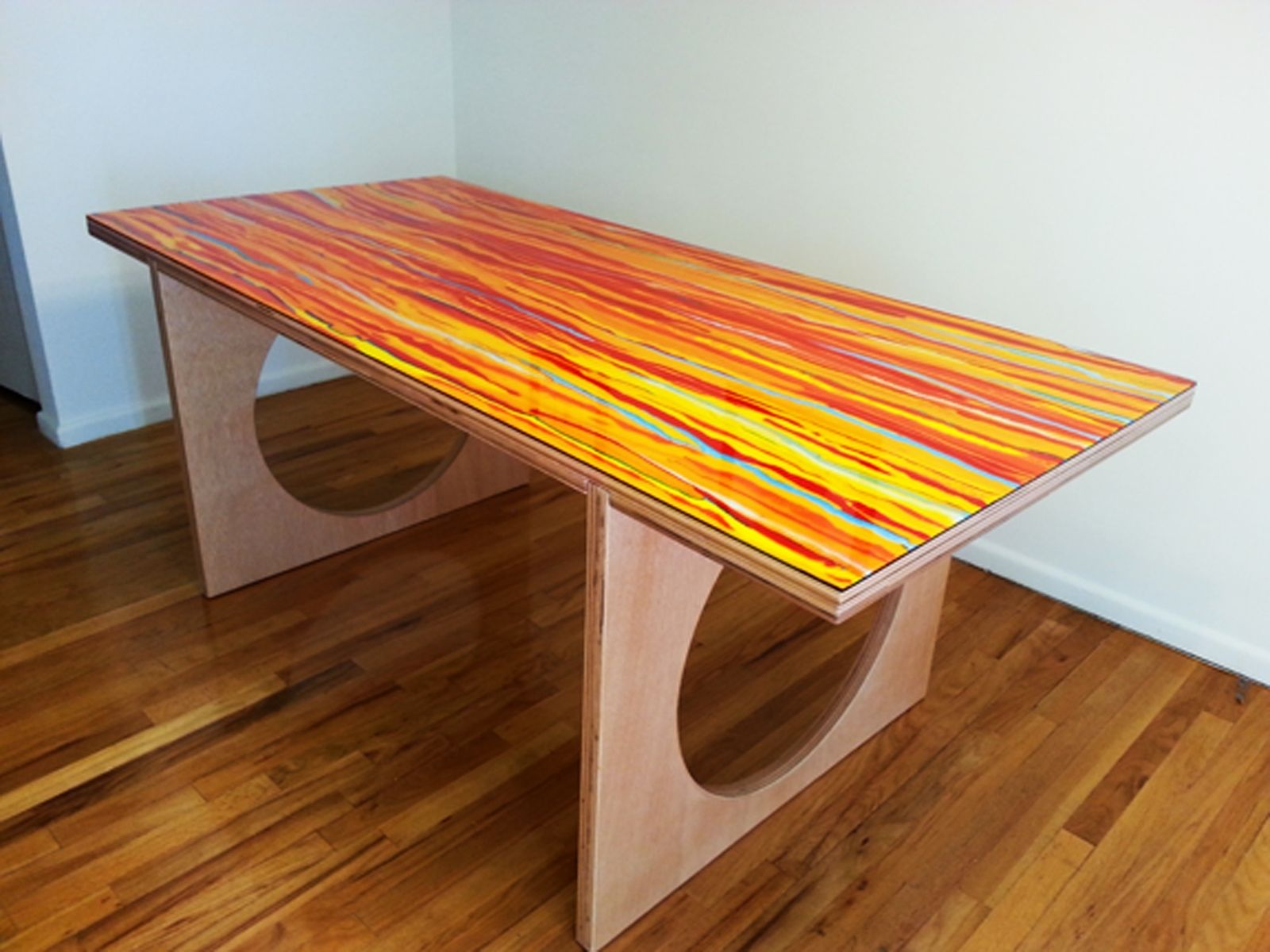 custom portable dining room table by queen of all mediums