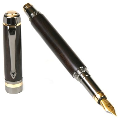 Custom Made Lanier Elite Fountain Pen - Blackwood - Fe7w07