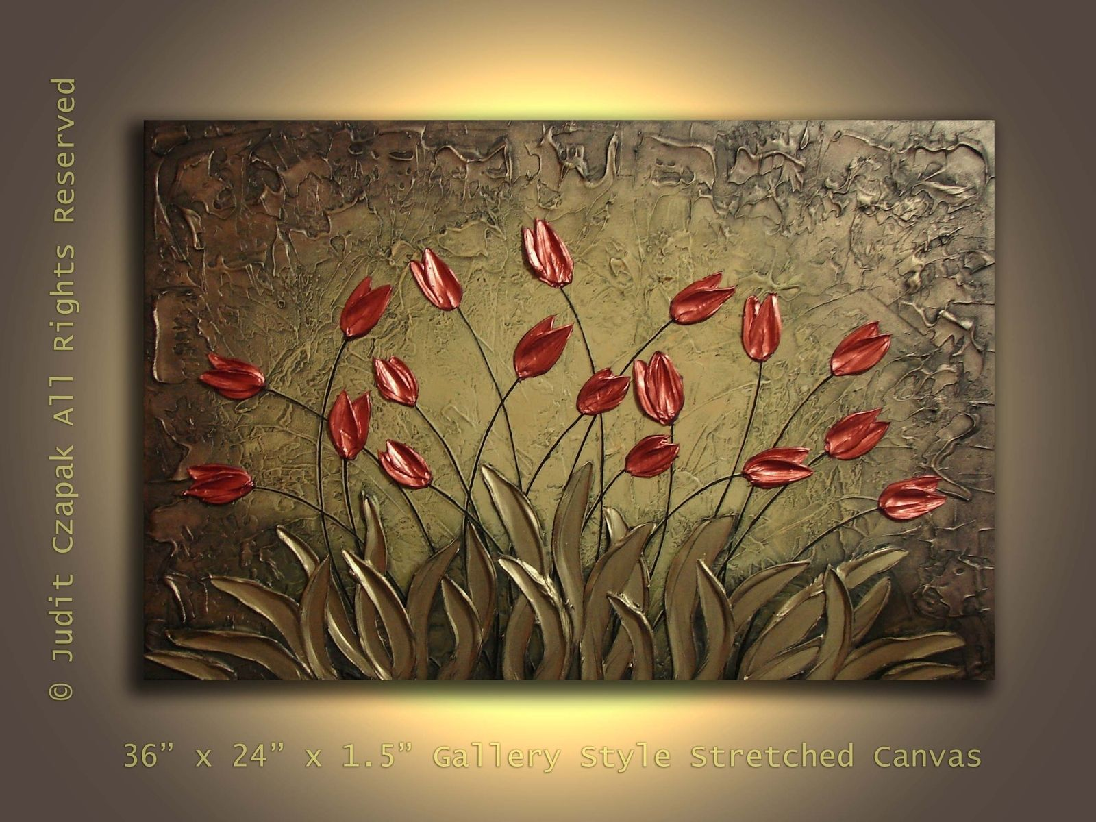 hand made original modern textured painting on canvas by