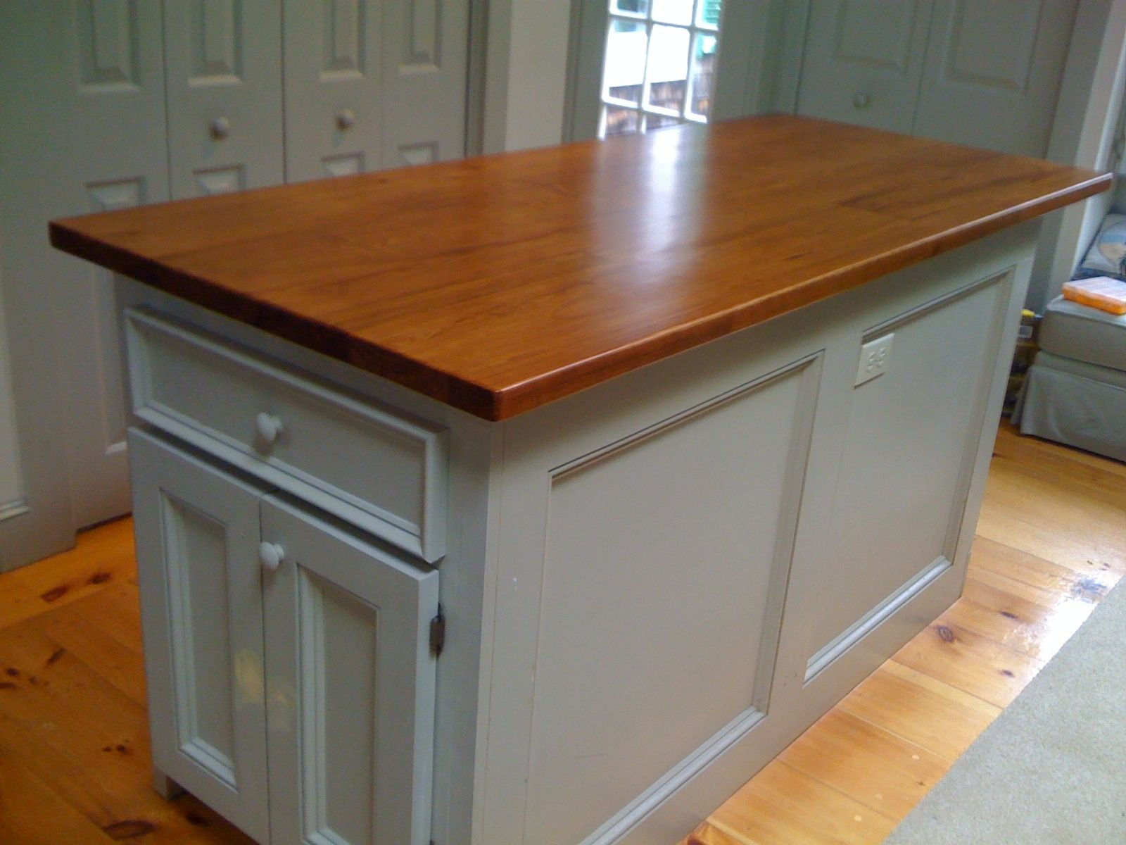 Handmade custom kitchen island reclaimed wood top by cape for Custom made kitchen islands