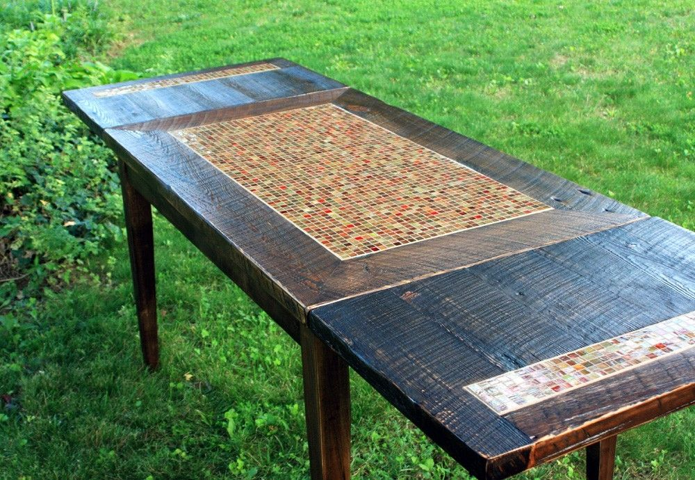 Handmade Mosaic Dining Table With 6 Chairs - Made from ...