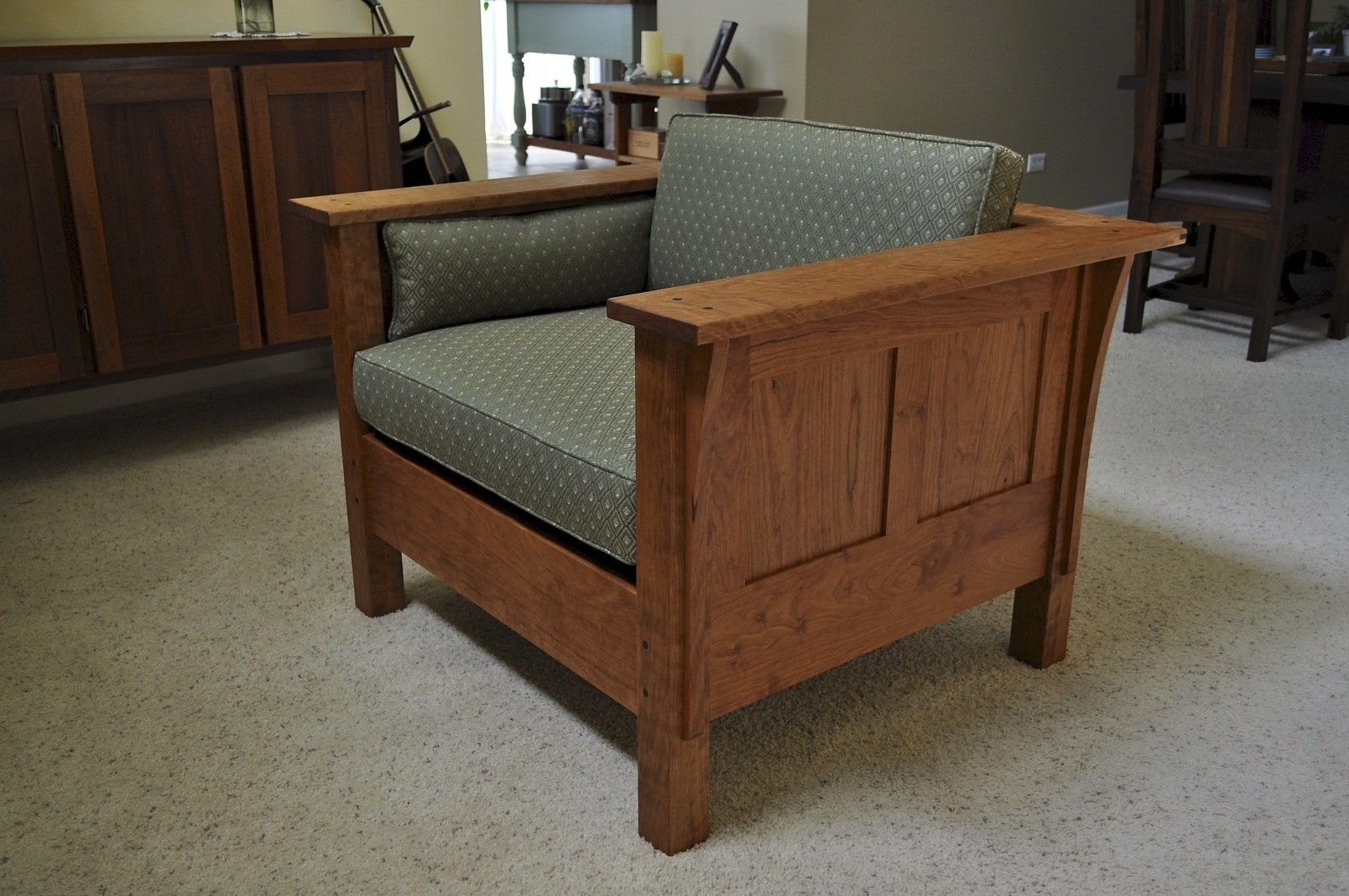 Handmade Arts Amp Crafts Chair By Custom Wood Accents