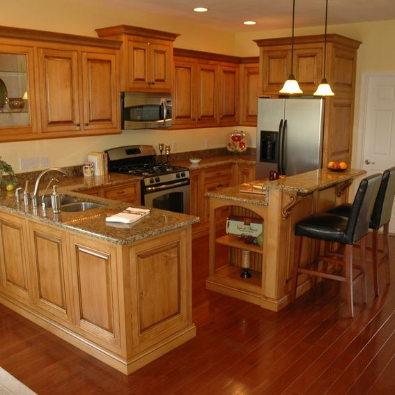 Maple Kitchen Countertops: Hand Crafted Glazed Maple Cabinets By Custom Corners Llc