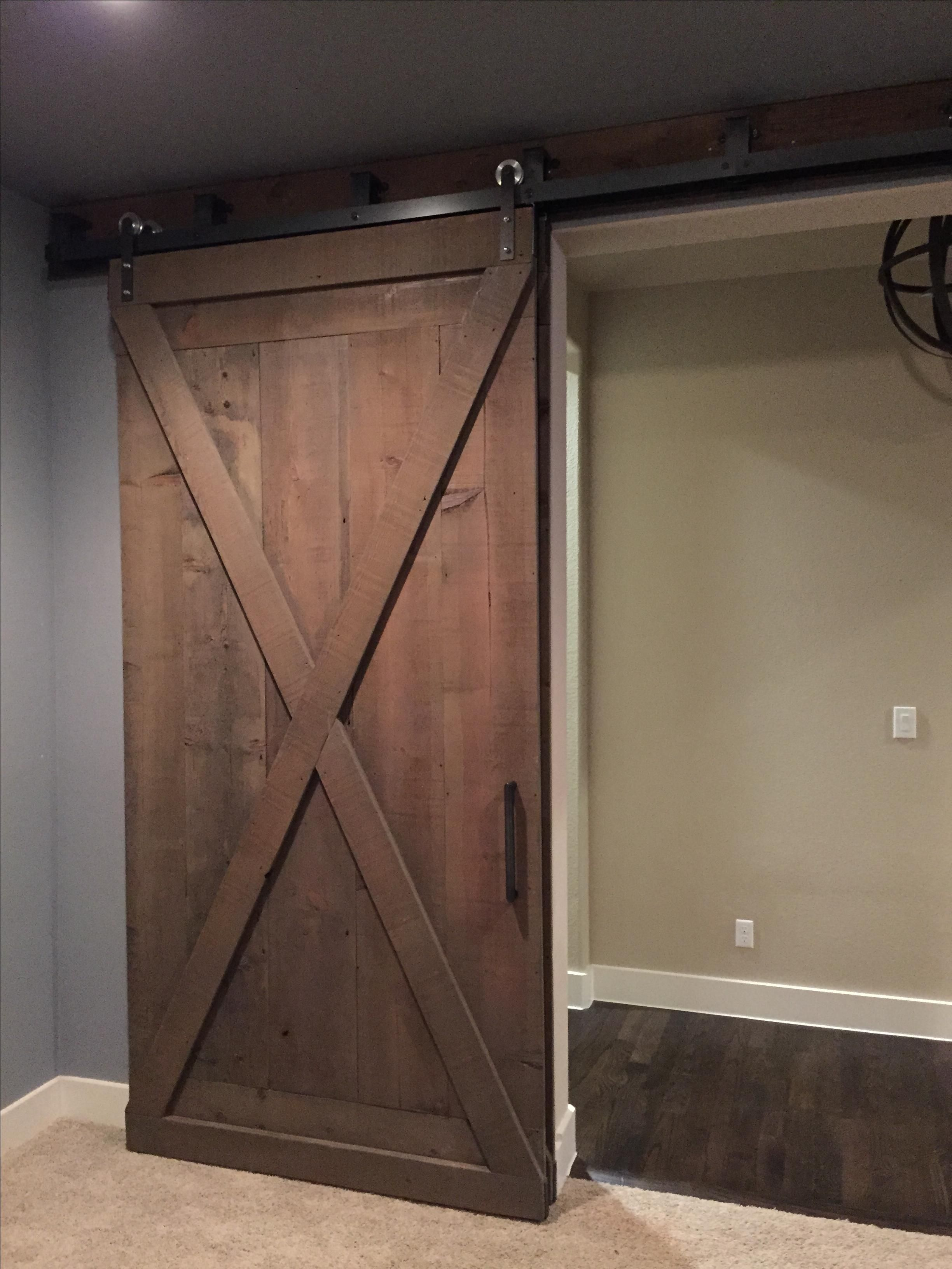 Custom made double by pass barn doors by woodwerd for Small double barn doors