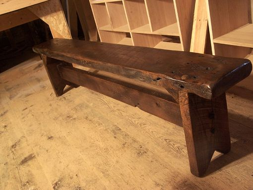 Buy a custom thick plank farm bench from antique reclaimed for Buy reclaimed wood online
