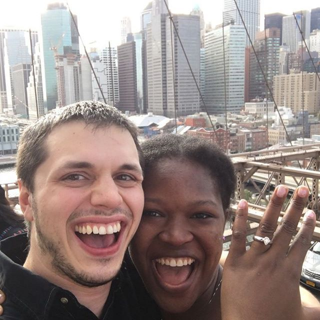 Photo of couple 9 after proposal