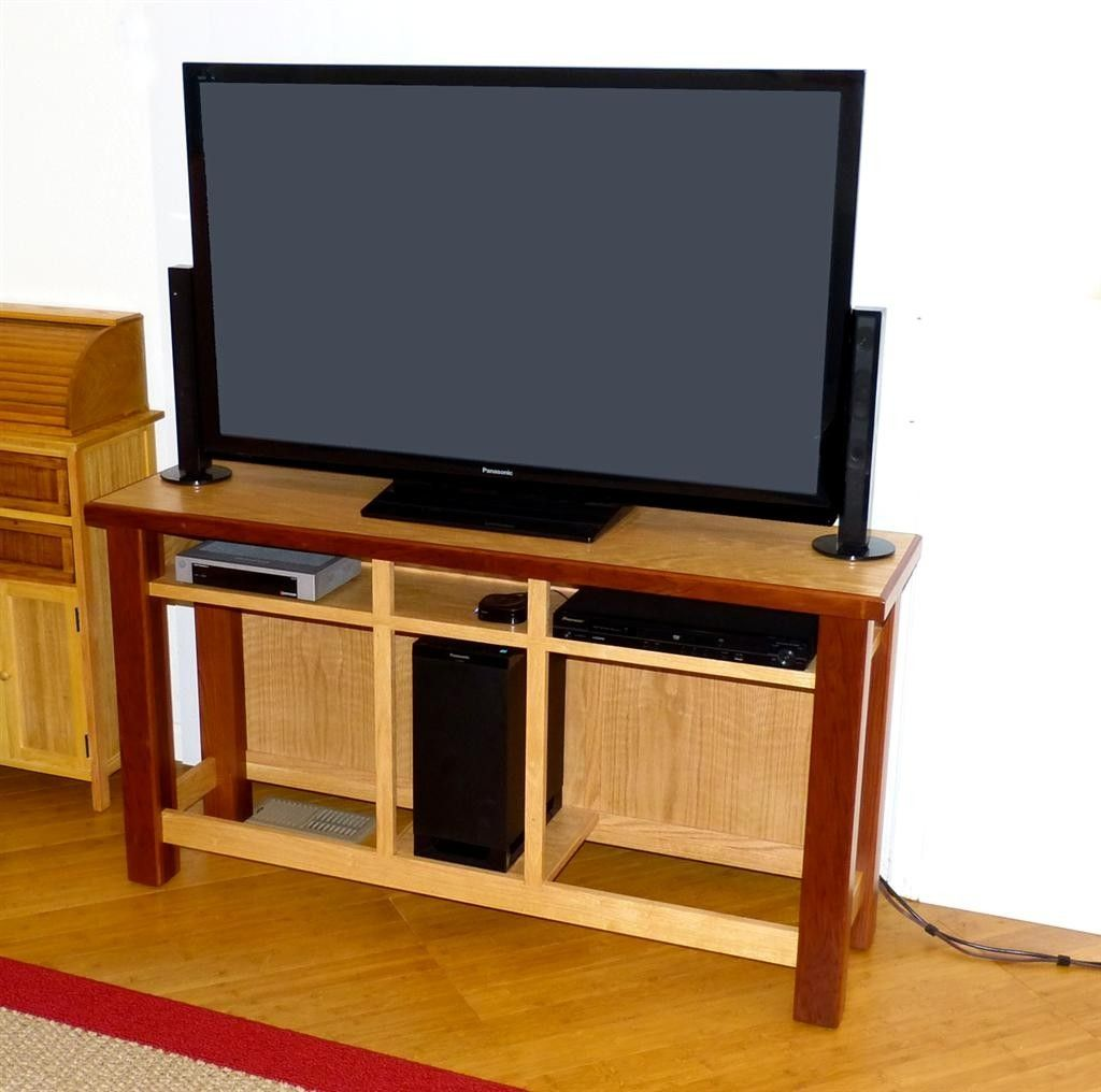 Hand crafted tv stand for 50 flat screen tv by pandanus - Made com meuble tv ...