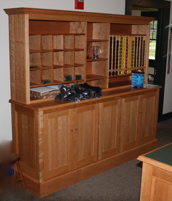 Custom cherry pro shop display cabinets by william laberge - Custom display cabinets ...