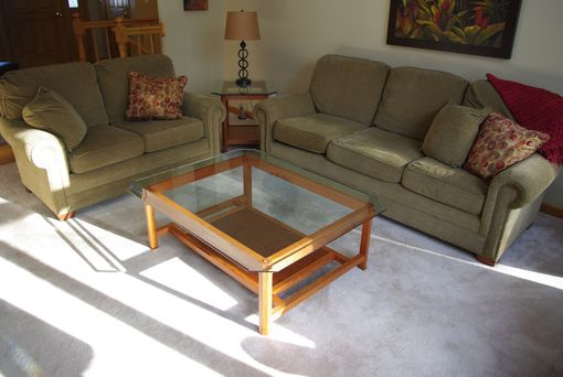 Custom Made Cherry Coffee And End Tables For Glass Tops