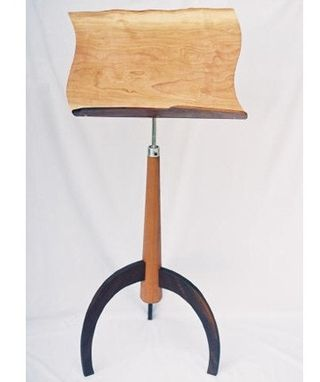 Custom Made Adjustable Music Stand (Front View)