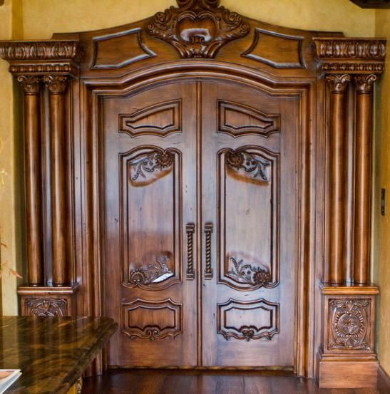 Handmade Custom Hand Carved Interior Doors By Chateau