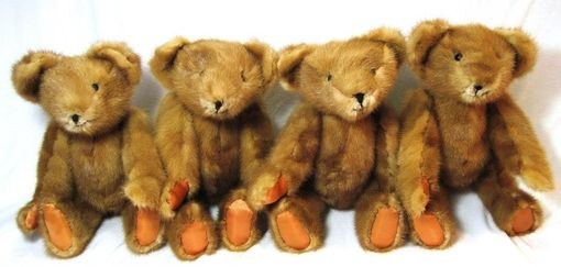 Custom Made Teddy Bears Made From An Old Fur Coat