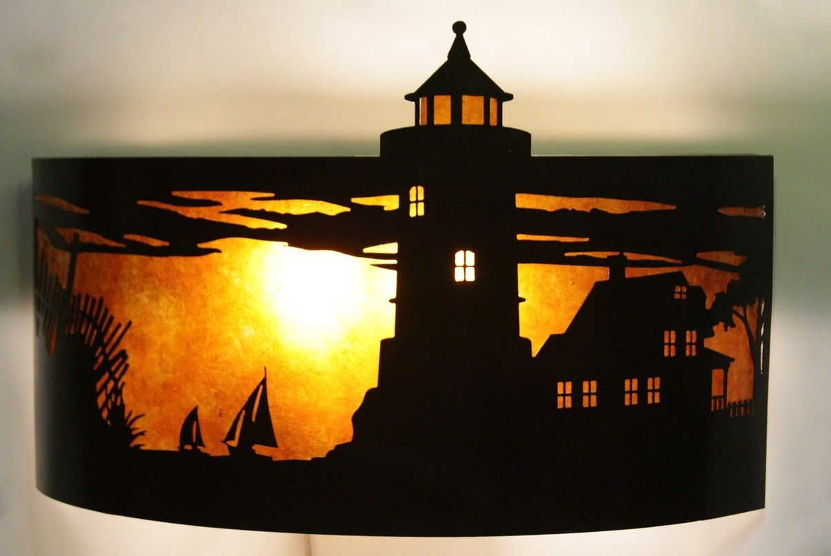 Hand Made Lighthouse Sconce By Soman Metal Works
