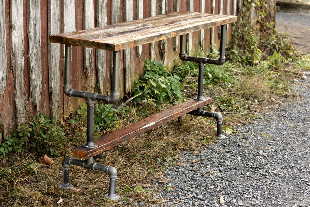 Buy A Handmade Bar Height Table In Weathered Gray Wood Top