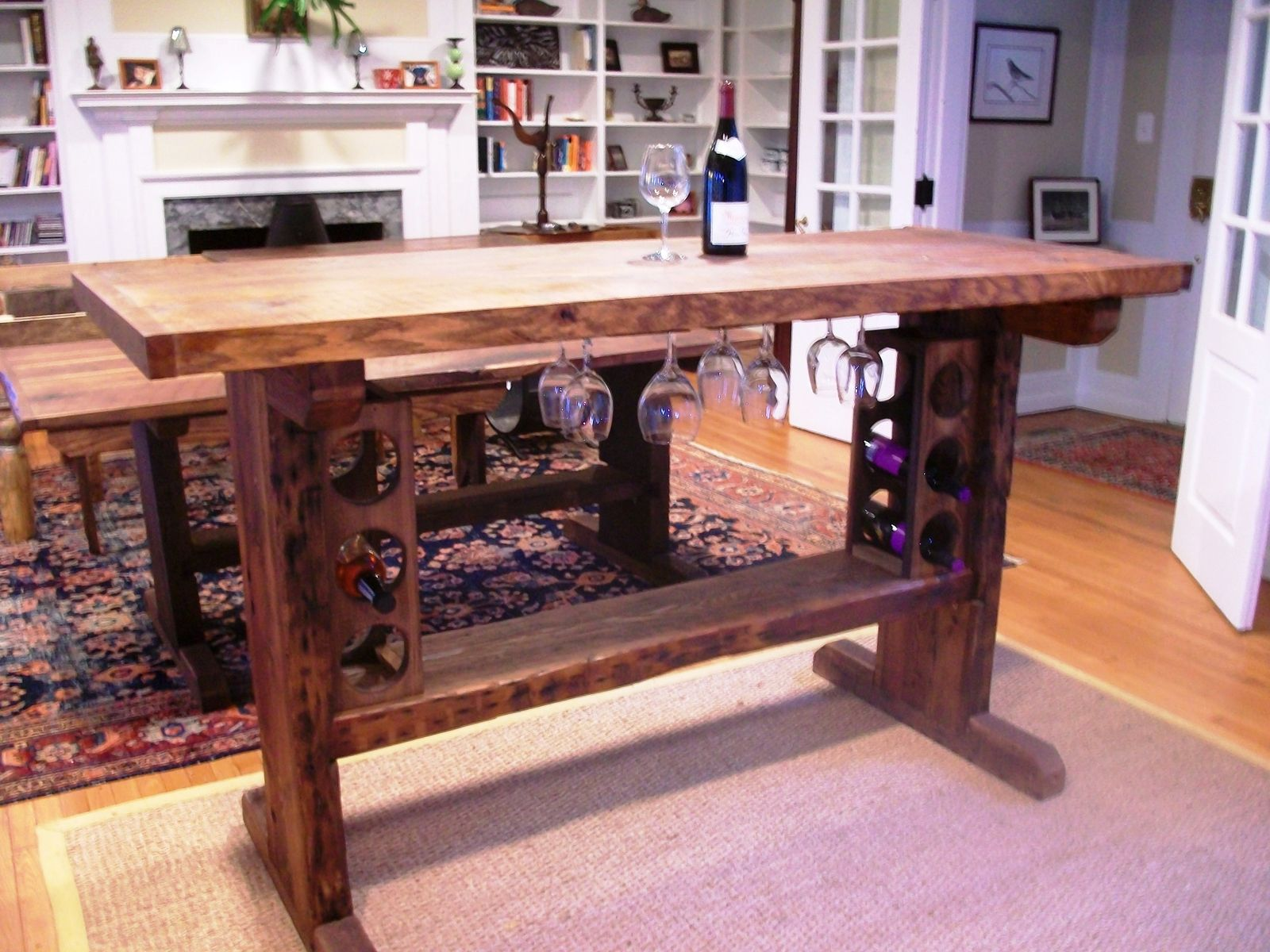 Hand Crafted Wine Tasting Table By Stable Tables