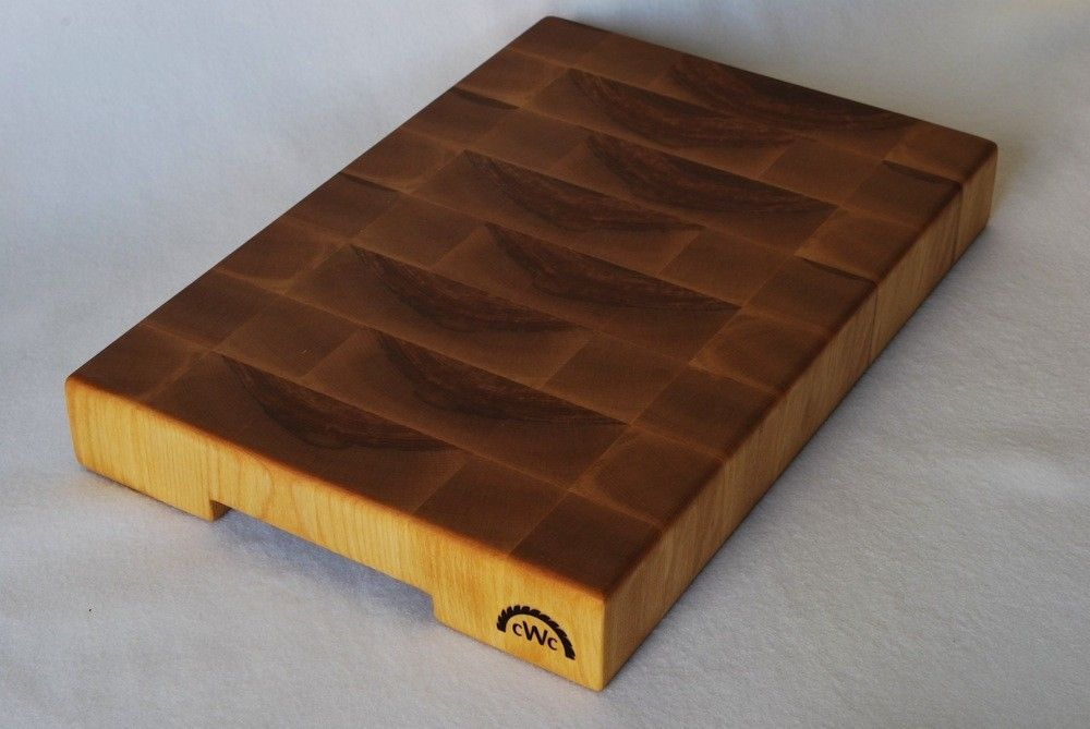 hand made solid end grain butcher block cutting board by