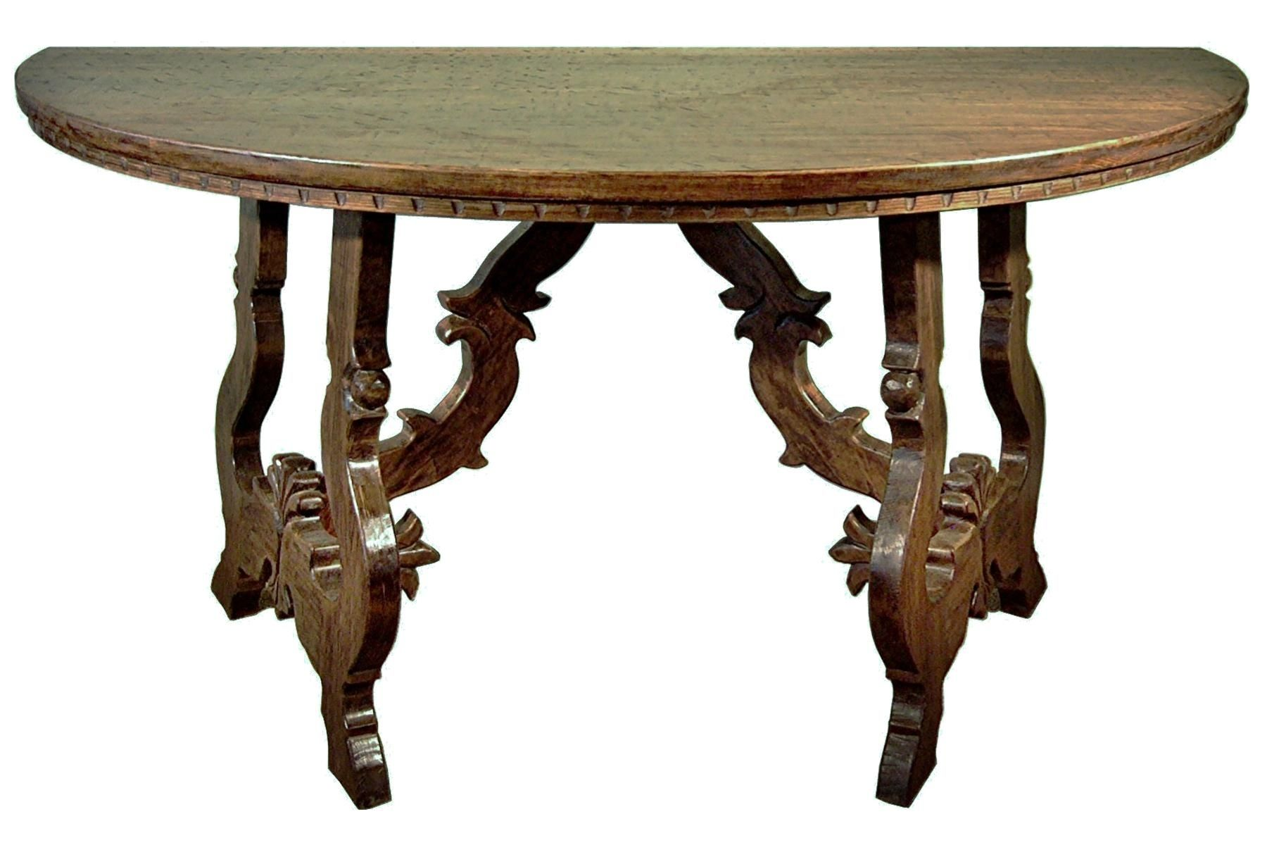 hand crafted half round tuscany hall table by accent products company. Black Bedroom Furniture Sets. Home Design Ideas