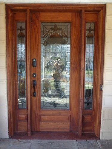 Hand Made Front Door W Sidelights By Ajc Woodworking