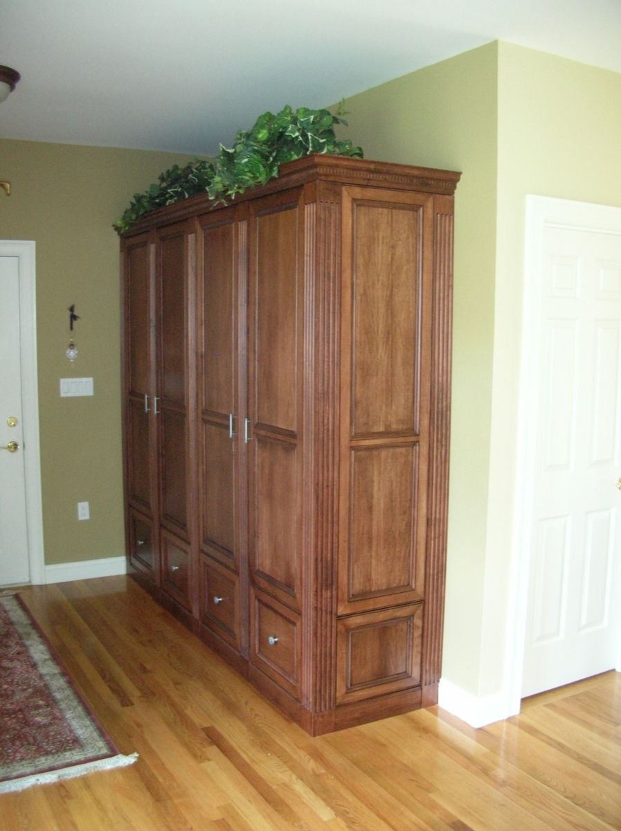 hand crafted entry hall armoire by case by case cabinets