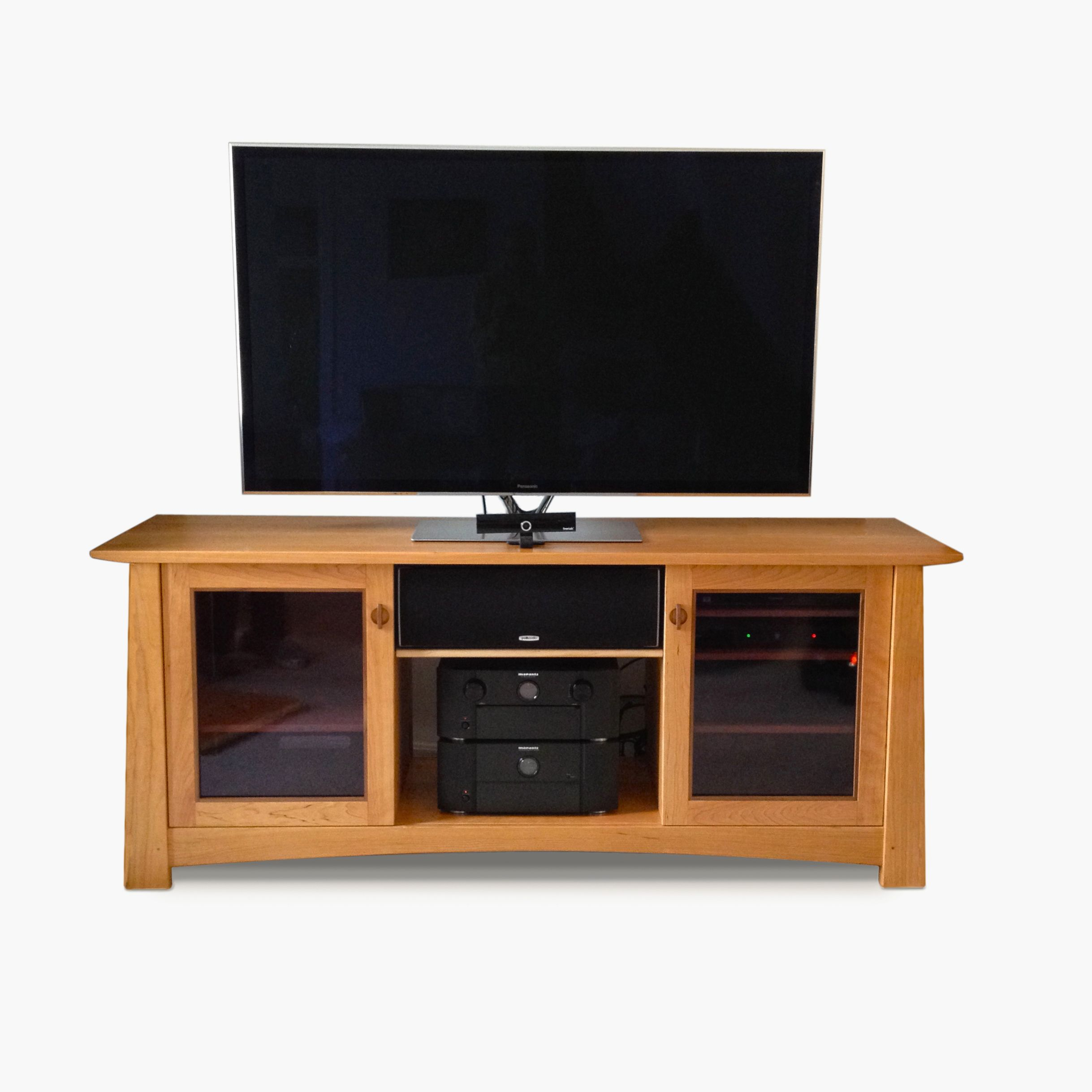Custom art 39 s and crafts tv stand console purple moon - Made com meuble tv ...