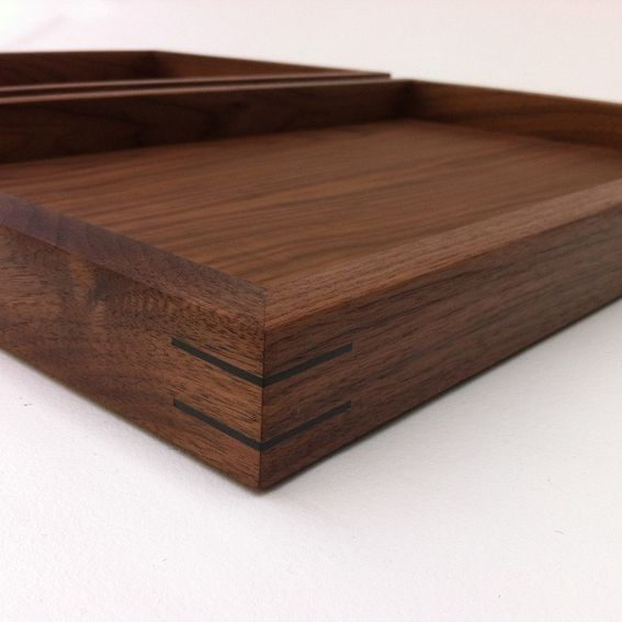 Buy A Hand Crafted Display Box Ottoman Tray W Splines And Felt Bottom Large Zen Garden