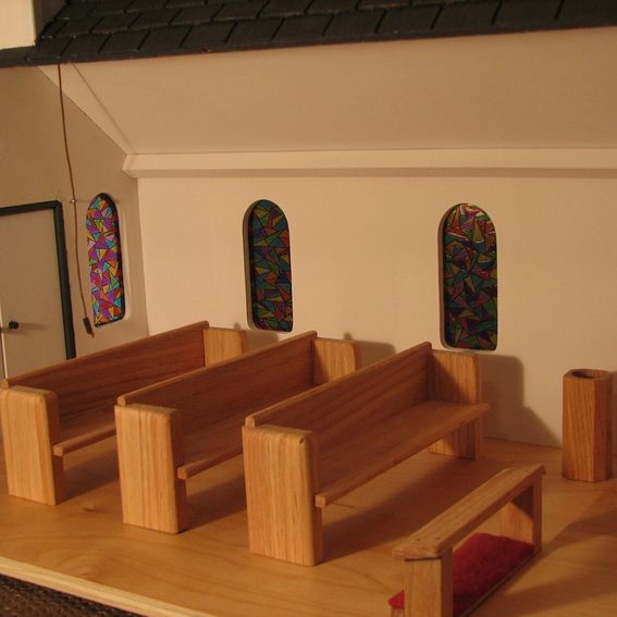 Toys For Church : Hand made toy wooden church by stockwell creek furniture